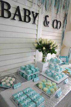 TIFFANY & CO Baby Shower Party Ideas | Photo 6 of 11 | Catch My Party