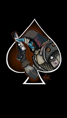 Destiny the game Ace of Cayde's Destiny Tattoo, Destiny Cayde 6, Destiny Comic, Destiny Hunter, Destiny Bungie, Destiny Backgrounds, Ace Of Spades Tattoo, Rise Of Iron, Wow Video
