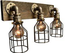 DESCRIPTION: Ne combinant à la fois de bois et de notre douille en acier sur mesure, il y a aucun lieu que cette lumière ne peut pas être utilisée. Nous avons utiliser un morceau de bois vieilli puis les tache de tache jacobin. Chaque pièce de bois est la même taille, mais tous sont en détresse différemment et chacun est unique. Cette lumière est conçue pour une installation facile et est livré avec les éléments nécessaires à joindre à votre coffret électrique  ~ TOUTES LES LUMIÈRES…