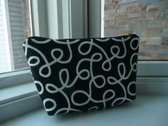 CLEARANCE Make Me Up  Cosmetic Bag / Small  Swirl by DesignHerStyles on Etsy, $11.00