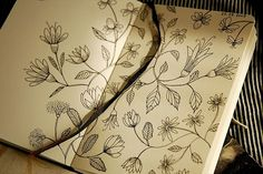 Not really zentangle but, this great hand drawn botanical design A:  is cool  B: might work well withinor surrounding a zentangle pattern...