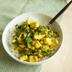 Vegan Saag Tofu Paneer — Produce On Parade Tofu, Tempeh, Spiced Cauliflower, Cauliflower Soup Recipes, Healthy Pasta Dishes, Healthy Pastas, Indian Food Recipes, Vegan Recipes, Ethnic Recipes