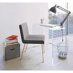 Small Space Solutions: Sources for Clear Glass & Acrylic Desks | Apartment Therapy