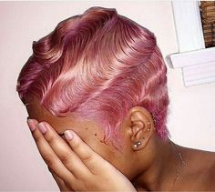 Quality virgin human hair & extensions trusted & recommended by stylists, and backed by the only return policy in the industry. Try Mayvenn hair today! Blonde Pixie, Finger Waves Short Hair, Short Waves, Hair Colorful, Color Del Pelo, Curly Hair Styles, Natural Hair Styles, Dope Hairstyles, Hairstyles Pictures