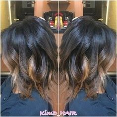 I'd want the balayage to fade to a drk brwn but love the color for my shorte… – Dark Hair Love Hair, Great Hair, Hair Color And Cut, Hair Colour, Balayage Hair, Dark Balayage, Reverse Balayage, Auburn Balayage, Balayage Color
