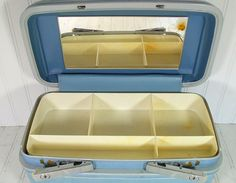 Retro Baby Blue Train Case  Vintage Samsonite by DivineOrders, $38.00