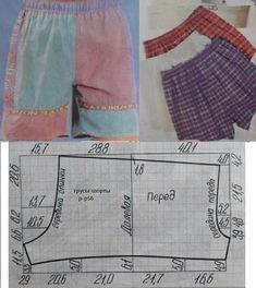 If I Can Figure Out This Pattern!We sew easily and simply Sewing Shorts, Sewing Clothes, Diy Clothes, Dress Sewing, Easy Sewing Patterns, Baby Patterns, Clothing Patterns, Easy Sew Dress, Underwear Pattern