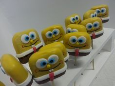 Spongebob Squarepants Cake Pops | Flickr - Photo Sharing!