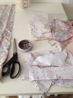 Liberty print dress in progress at Tara Deighton Bridal & bespoke