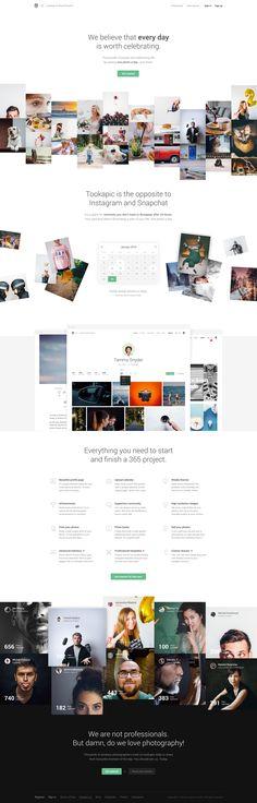 Tookapic Website Design