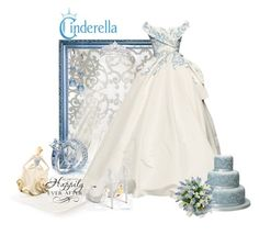 Cinderella Wedding Day by mystimorgan on Polyvore featuring polyvore, fashion, style, Lenox, TIARA, Christian Dior Haute Couture and clothing