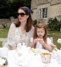 Plum Sykes with her daughter, Ursula, 2010 | The Tory Blog
