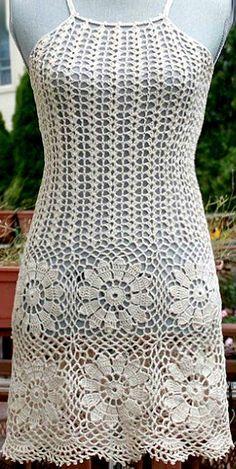 Crochet Beach Dress, Crochet Summer Dresses, Crochet Blouse, Pull Crochet, Crochet Cover Up, Crochet Lace, Diy Crafts Dress, Diy Crafts Crochet, Crochet Skirt Pattern