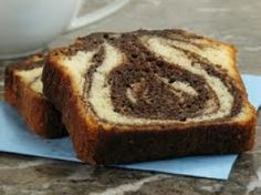 Gâteau moelleux marbré banane-choco #recettesduqc #gateau #dessert #banane