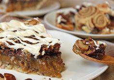 Cinnamon Bun Pecan Pie Recipe (Oh Nuts Blog) such a cool crust