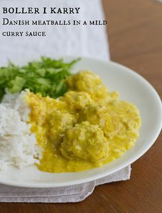 Boller i karry. Lihapallid karrikastmes. Danish meatballs in a curry sauce. by Pille - Nami-nami, via Flickr