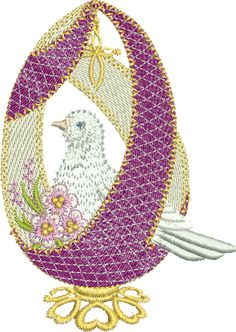 Easter Egg  Small Size: 69.60 x 98.80/11132 Stitches Large Size: 90.50 x 128.30/15554 Stitches