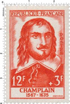 Timbre 1956 : CHAMPLAIN 1567-1635 | WikiTimbres