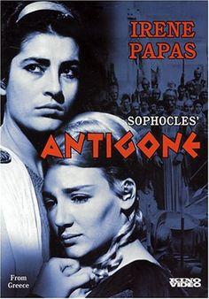 Actress, Irene Papas (left) in Antigone. Papas was born in Chiliomodi, outside Corinth, Greece. Epic Movie, Movie Tv, Irene Papas, Cinema Posters, Movie Posters, Film Poster, Kino International, Greek Tragedy, Drama