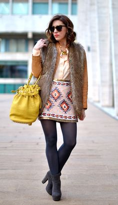 Sequined tribal print skirt. Is there anything better? #perfection