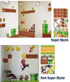 Vinilos decorativos Super Mario - Tienda de regalos originales QueLoVendan.com