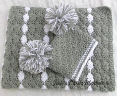 Baby Gift Set Crochet Baby Crib Blanket and by JadesClosetBlankets