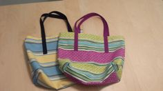 Colorful Cotton Tote Bag, $8.00 on Etsy