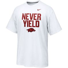 Nike Arkansas Razorbacks Never Yield Legend Performance T-Shirt - White - $20.99