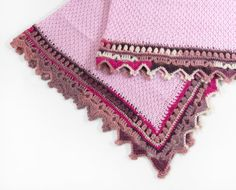 Knitted Baby Blanket  Pink by SasasHandcrafts on Etsy