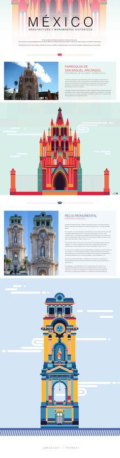 MÉXICO arquitectura y monumentos II on Behance