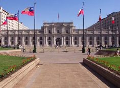 La Moneda Palace is the seat of the president of Chile.