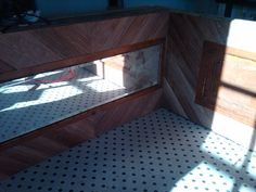 The front of the main bar incorporating the mirro from the armoire!  Recycle, Reuse...