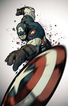 Captain America by TiagoMontoia on DeviantArt Comics Anime, Marvel Comics Art, Marvel Heroes, Marvel Avengers, Capitan America Marvel, Captain America Wallpaper, Captain America And Bucky, Captain America Tattoo, Captain America Drawing