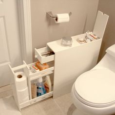 Proman Bath Floor Cabinet - Space Savers at Hayneedle- This would be great to store all my cleaning supplies so it does not take up space under counter