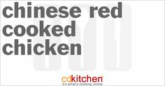 Chinese Red-Cooked Chicken | CDKitchen.com