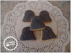 "Butter cookies with sugar paste.  ""Star Wars"" #cookies #starwars #darthvader"