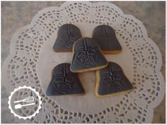 "Butter cookies with sugar paste.  ""Star Wars"" #cookies #starwars #darthvader"