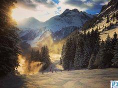 Magnifique décor pour skier