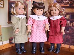 Completely lovely doll clothes patterns! Lots to choose from including 1930s style that would fit American Girl doll Kit