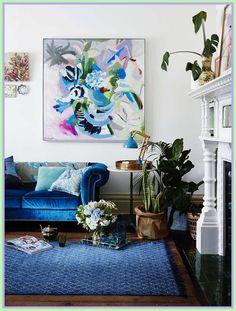 Home Design Ideas House Design, Green Cushions, Single Sofa, Rugs, Black Sofa, Blue Rug, Black Fabric Sofa, Blue Sofa, Sofa