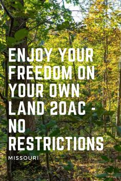 When you own land, you always have security. You can always get away and out of the city. You always have a growing asset to pass onto future generations.  Here there are no restrictions- you can build whatever you want. Yes please!!!!