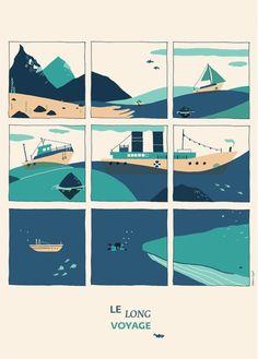 Affiche Illustration Enfant thème mer et aventure, Clémence Dupont