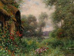 Beautiful Paintings by Louis Aston Knight pics) Louis Aston Knight, Amazing Paintings, Amazing Art, Pintura Exterior, Acrilic Paintings, Art Thomas, Cottage Art, Storybook Cottage, Knight Art