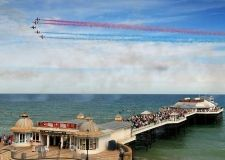 The Red Arrows fly giving a display over Cromer Pier during Cromer Carnival week. PHOTO: ANTONY KELLY