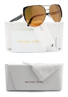 bd8bd8dcb3d  127 - Michael Kors MK1005 Sadie 1 Sunglasses Bronze w Orange Mirror (1092