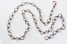 Hammered Copper Links Chain