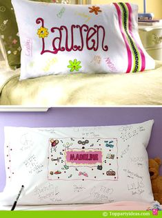 Next sleep over idea. I'm also going to have the girls make personalized cloth napkins they can use during our meetings. :-)