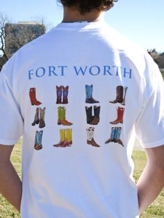 Fort Worth Boot shirt. Shop at: http://www.thefortclothingetc.com/shop/boots-short-sleeve-tee