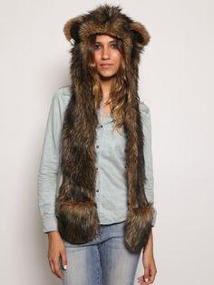 Grizzly Bear SpiritHood - $99 https://www.spirithoods.com/adults/womens/grizzlybear/777