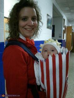 Bag of Popcorn DIY Costume for Babies